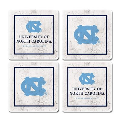 UNC Legacy Ivy League Coaster Set