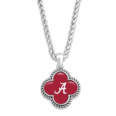 Alabama Quatrefoil Domed Bead Necklace