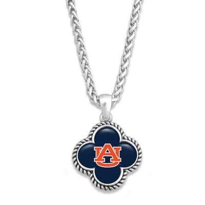 Auburn Quatrefoil Dome Necklace
