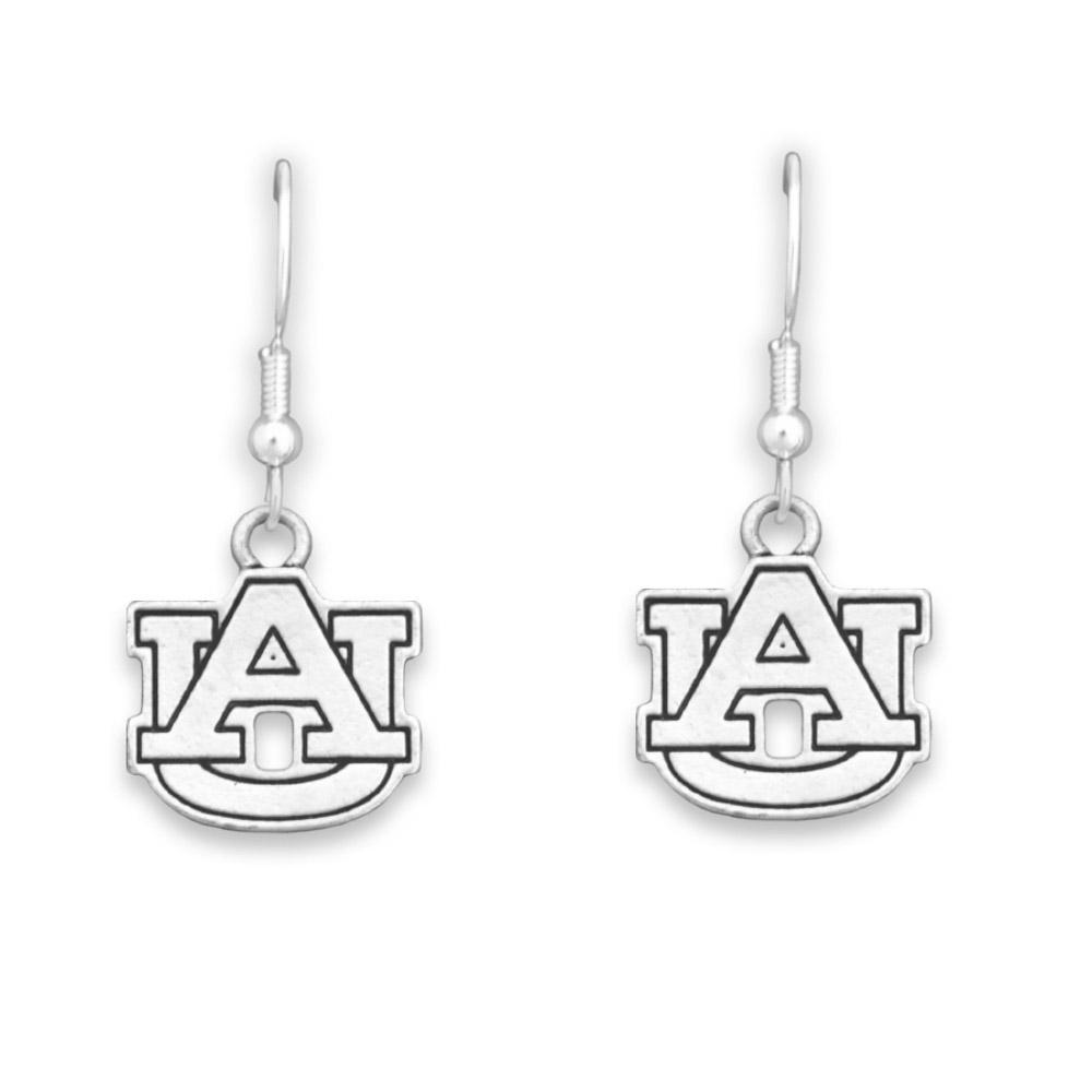 Auburn Antiqued Logo Earrings