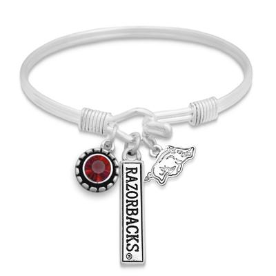 Arkansas Trifecta Antiqued Logo Bracelet