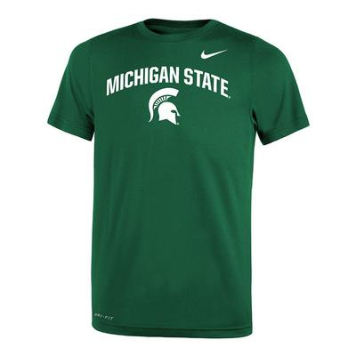 Michigan State Nike Youth Dri-Fit Legend 2.0 Short Sleeve Tee