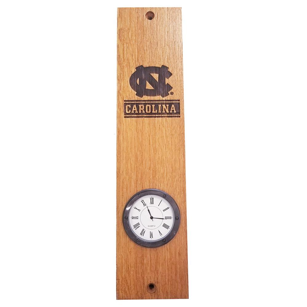 Unc Timeless Etchings Barrel Stave Clock