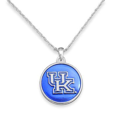 Kentucky Iridescent Disk Necklace