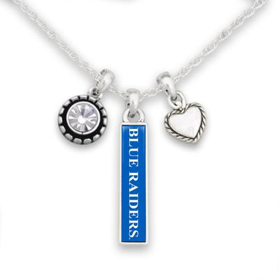 MTSU Trifecta Antiqued Logo Necklace