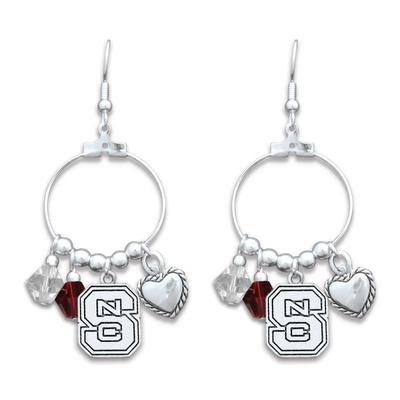 NC State Haute Wire Dangler Earrings
