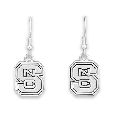 NC State Antiqued Logo Earrings