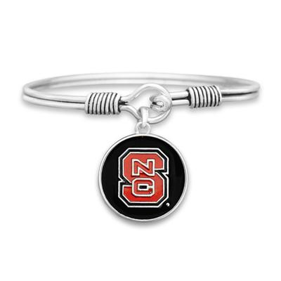 NC State Campus Chic Iridescent Wire Bangle