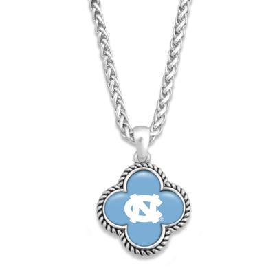 UNC Quatrefoil Domed Bead Necklace