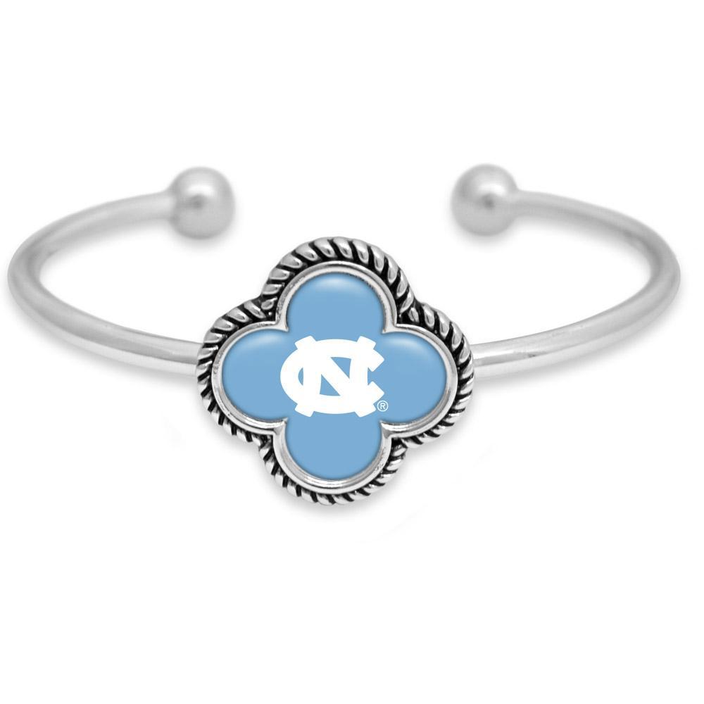 Unc Quatrefoil Domed Cuff Bracelet