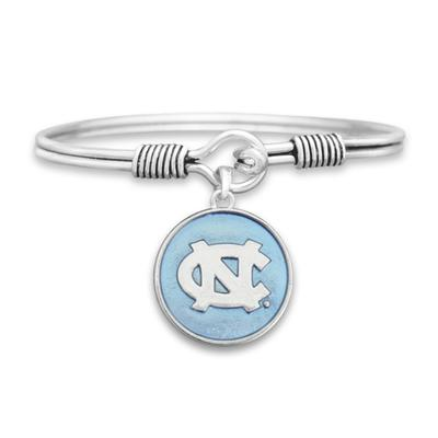 UNC Campus Chic Iridescent Wire Bangle