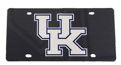 Kentucky Carbon Fiber Logo License Plate