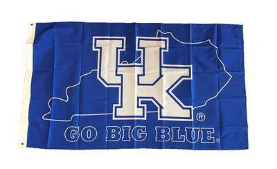 Kentucky Go Big Blue House Flag (3' x 5')
