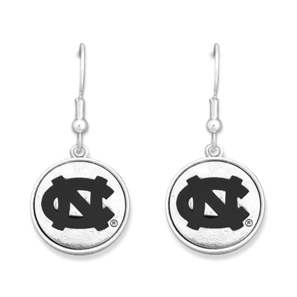 Unc Silver Linings Medallion Earrings