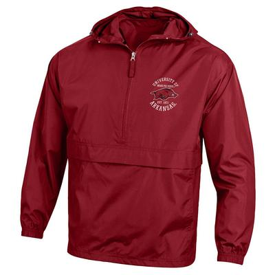 Arkansas Champion Unisex Pack and Go Jacket