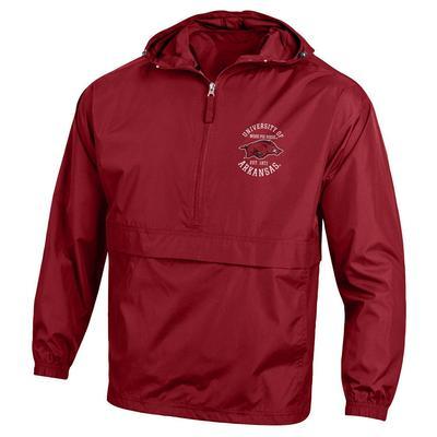 Arkansas Champion Unisex Pack and Go Jacket