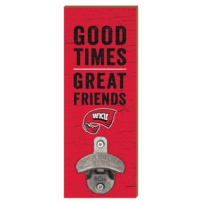 Western Kentucky Legacy Good Times Wall Mount Bottle Opener