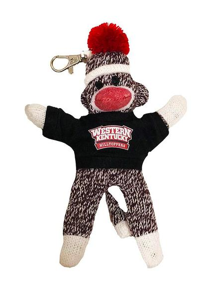 Western Kentucky Sock Monkey Key Chain