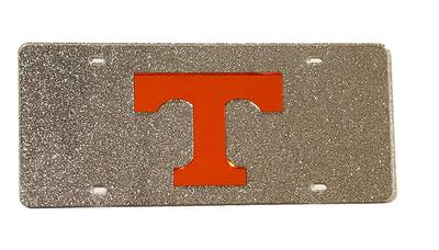 Tennessee Silver Glitter License Plate