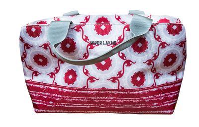 Crimson & White Piper Layne Mini Cooler