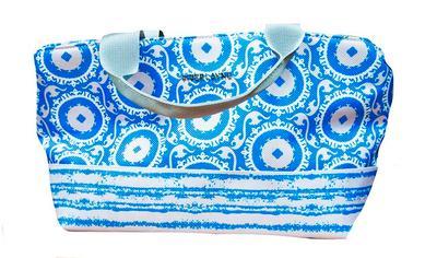 Blue & White Piper Layne Mini Cooler
