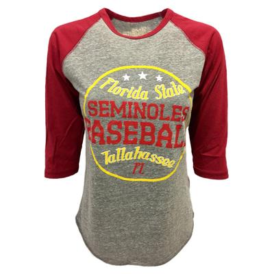 Florida State Retro Brand Margie Raglan Baseball Tee
