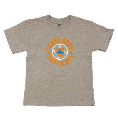 Tennessee Youth Rounded Softball T-shirt OXFORD
