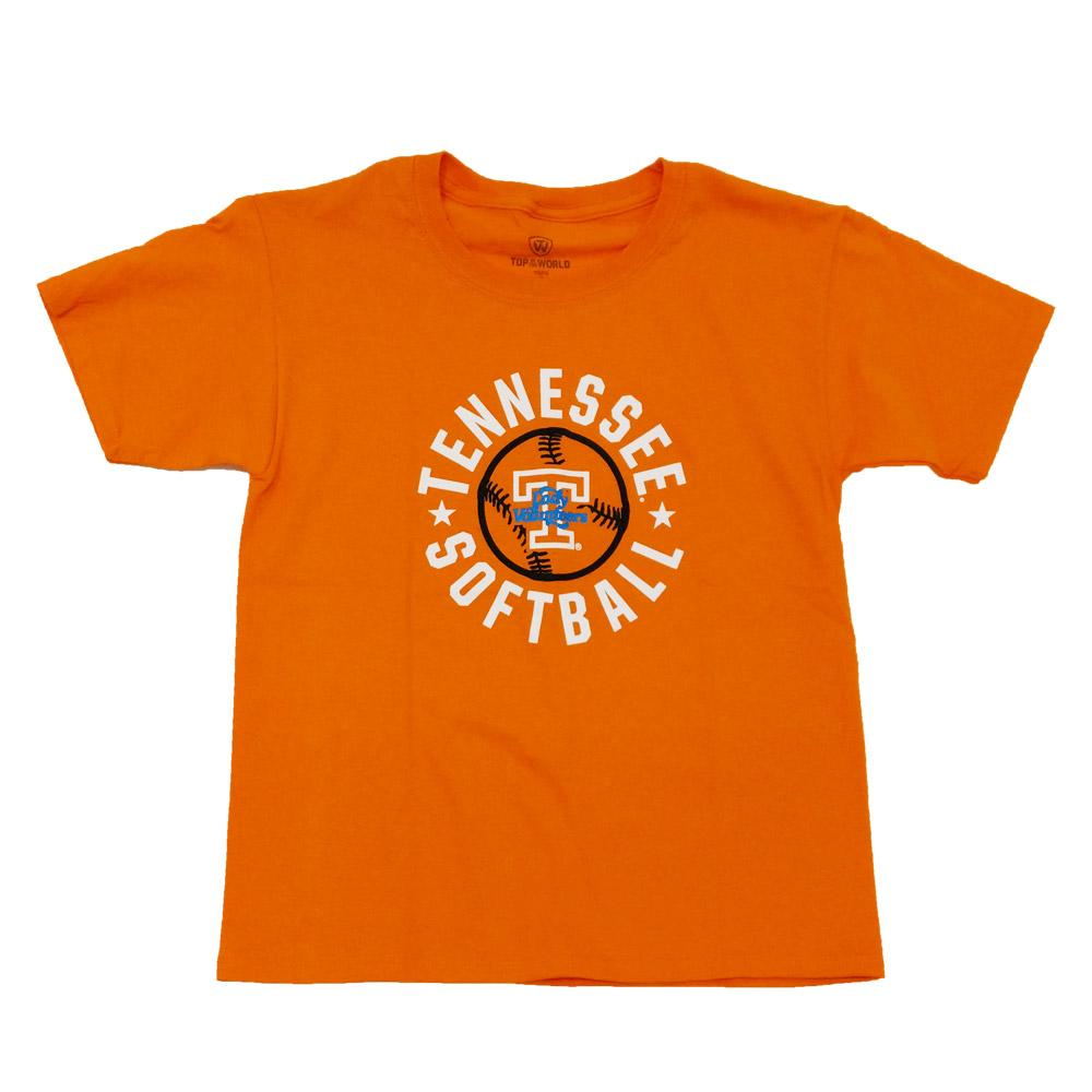 Tennessee Youth Rounded Softball T- Shirt