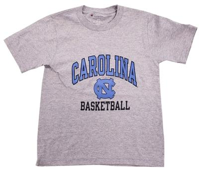 UNC Youth Arch Over Logo Basic Basketball Tee