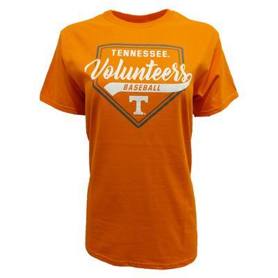 Tennessee Women's Home Plate Script Baseball Tee