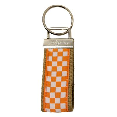 Tennessee Checkerboard Key Fob
