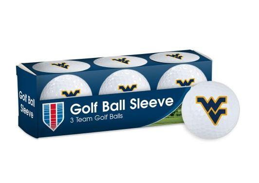 West Virginia Golf Balls 3pk