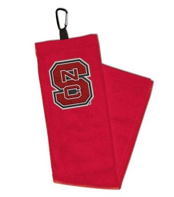 NC State Golf Towel with Carabiner