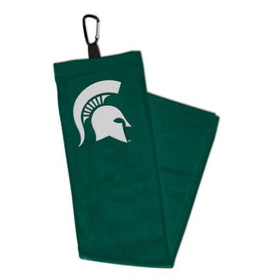 Michigan State Golf Towel with Carabiner