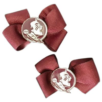 Florida State Pin Wheel Hair Bow (Pair)