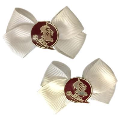 Florida State Pin Wheel Hair Bow (Pair)