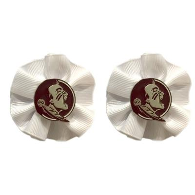 Florida State Ruffle Hair Bow (Pair)