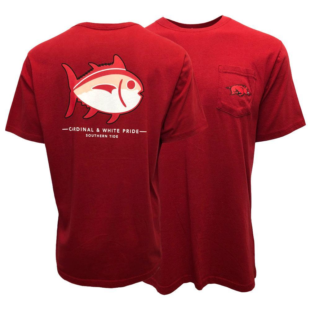 Arkansas Southern Tide Short Sleeve Skipjack Logo Tee