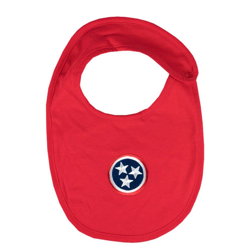 Tennessee Infant Tristar Solid Bib