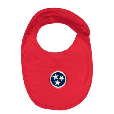 Tennessee Infant Tristar Solid Bib