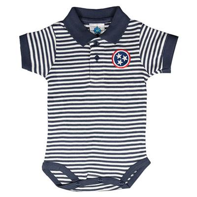 Tennessee Infant Tristar Striped Polo Onesie