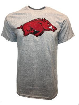 Arkansas Giant Logo Short Sleeve Tee SPORT_GREY
