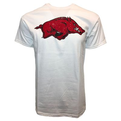 Arkansas Giant Logo Short Sleeve Tee WHITE