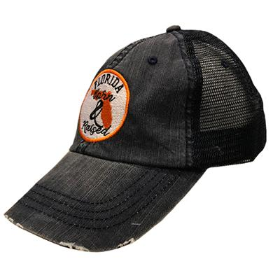 State Of Florida Circle Patch Born And Raised Cap