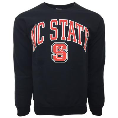NC State Arch Logo Screen Print Crew Fleece