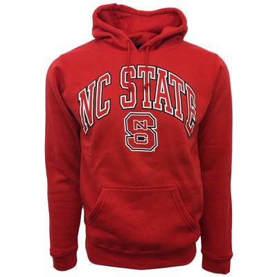 NC State Arch Logo Hooded Sweatshirt RED