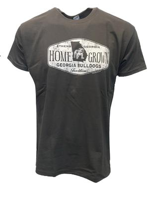 Georgia Homegrown Vault Logo Standing Bulldog Short Sleeve Tee CHARCOAL
