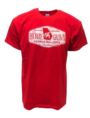 Georgia Homegrown Vault Logo Standing Bulldog Short Sleeve Tee RED