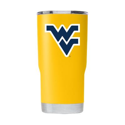 West Virginia Gametime Sidekick Gold 20oz Tumbler With Lid