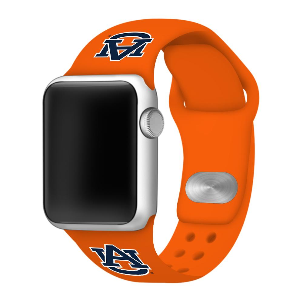 Auburn Apple Watch Silicone Sport Band 38mm